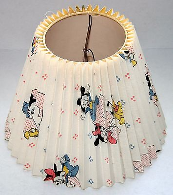 Vintage 1984 Disney Baby Mickey Minnie LAMP SHADE accordion fabric