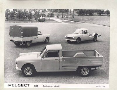 1969 Peugeot 404 Pickup Truck ORIGINAL Factory Photograph wy1080