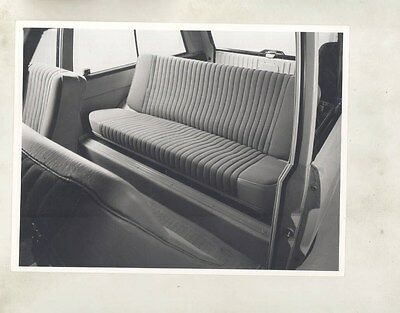 1973 ? Range Rover Interior Back Seat ORIGINAL Factory Photograph wy1095