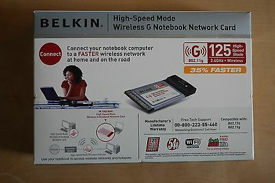Belkin High Speed Wireless G Notebook Network Card