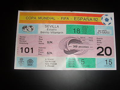 TICKET 1982 WORD CUP GAME 15 BRAZIL v SCOTLAND UNUSED