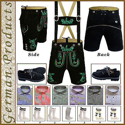 German Bavarian Trachten Oktoberfest Short Lederhosen Men Costume Package / Set