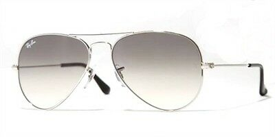Ray-Ban Men's Large Aviator Silver Frame Gray Gradient Lens Rb3025 003/32 62Mm