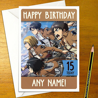 ATTACK ON TITAN Personalised Birthday Card