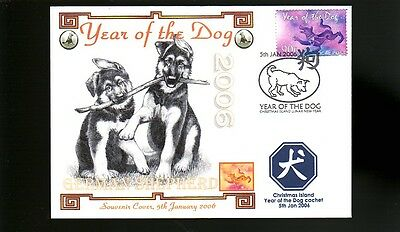 German Shepherd 2006 Ci Year Of The Dog Stamp Cover 2