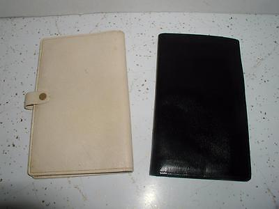 Mens and Womens Passport Holder Leather Wallet Black Ivory Vintage