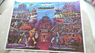 Vintage 1985 Masters Of The Universe Full Size Poster He-Man The Evil Horde