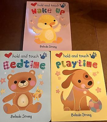 LOT OF 3 Hold and Touch BOOKS by Belinda Strong Board Books Book (English) NEW!
