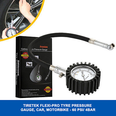 0-60 PSI Tire Tyre Pressure Gauge monitor 4-bar universal for Car SUV Motorcycle