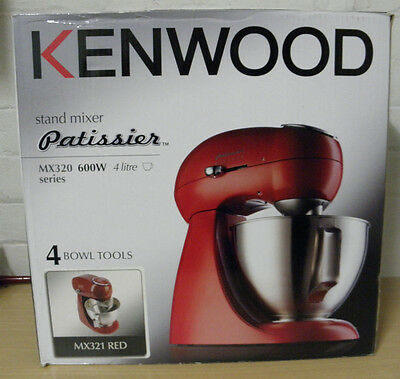 Kenwood Patissier Food Mixer Red MX320 600w 4 Litre Series rrp $369 BRAND NEW