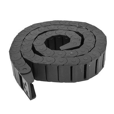 HFS Machine Tool Plastic Towline Drag Chain Black 18 X 37Mm