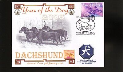 Dachshund Year Of The Dog Souvenir Stamp Cover 1