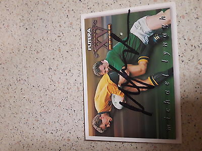 1995 Michael Lynagh Hand Signed Futera Wallabies Card