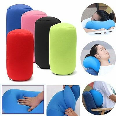 Microbead Back Cushion Micro Roll Throw Pillow Travel House Bed Sofa Sleep Neck