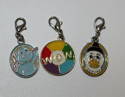 Webkin Charms duck, hippo and colorful wow