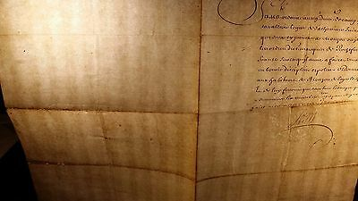 KING LOUIS XIV AUTOGRAPH - 1675 - The Order Given to the Mestre Regiment of Camp