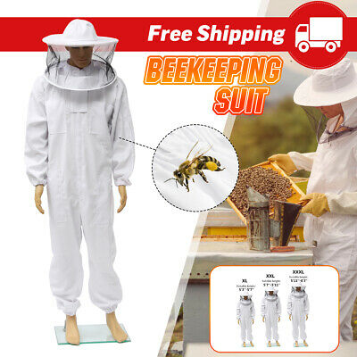 Beekeeper Protection Bee keeping Suit Safty Veil Hat All Body Equipment Hood 3XL