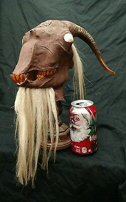 Christmas Krampus Head Display,folklore,myth,sideshow Gaff,naughty,prop,ooak,odd