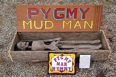 MUMMIFIED Pygmy MUD Man,Sideshow Gaff,Oddity,MOVIE Prop,Macabre,Freak,HALLOWEEN
