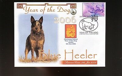 Blue Heeler Aust 2006 Year Of The Dog Stamp Cover 1