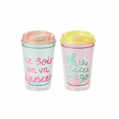 NEW RICE Insulated Plastic Travel Cup