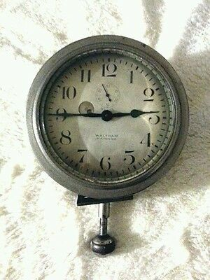 Waltham Antique Vintage Watch Co  8-Day Pocket Watch Car Clock USA FOR PARTS
