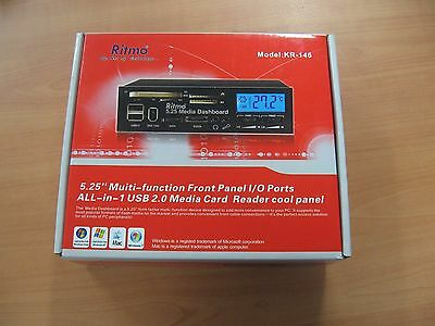 """5.25"""" Multi-Function Front Panel I/O Ports All-in-1 USB 2.0 Media Card Reader"""
