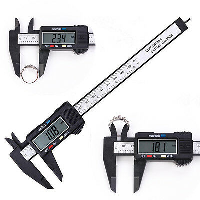 LCD Digital Electronic Vernier Caliper Gauge Micrometer Carbon Fiber 150MM 6inch