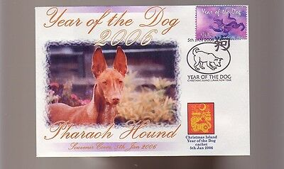 Pharaoh Hound Dog Stamp Cover 2006 Year Of The Dog 3