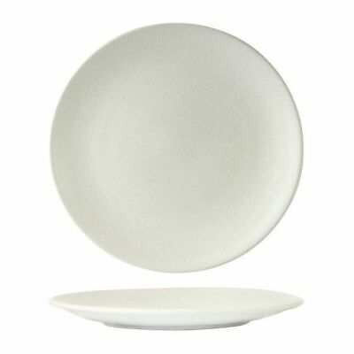 6x Coupe Plate, 285mm Zuma 'Frost' White Commercial Crockery / Cafe / Restuarant