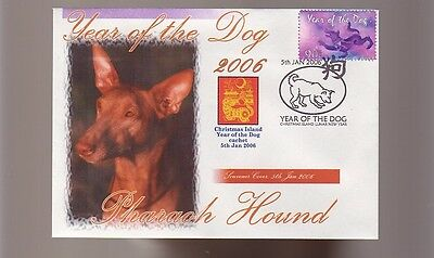 Pharaoh Hound Dog Stamp Cover 2006 Year Of The Dog 1