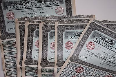 Scripophily Group 75 Certificates Share / Stock Bonds Dated 1927