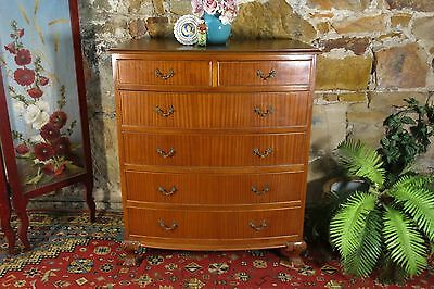 Vintage Antique Louis Style Chest of Drawers~Walnut~Office~Sideboard~Storage