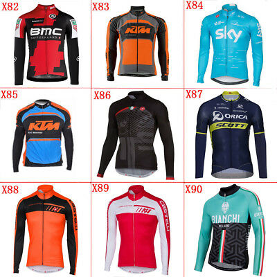 Thermal Fleece MAN cycling long jersey cycling jerseys Ciclismo lungo jersey