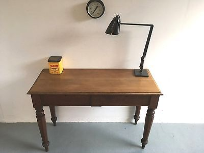 Antique Desk / Console Edwardian Solid Oak Farmhouse Rustic