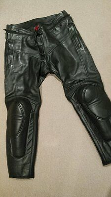Dainese Mens Leather Motorcycle Pants Black  54