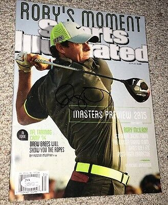 RORY McILROY SIGNED AUTOGRAPHED GOLF SPORTS ILLUSTRATED MAGAZINE JSA MASTERS