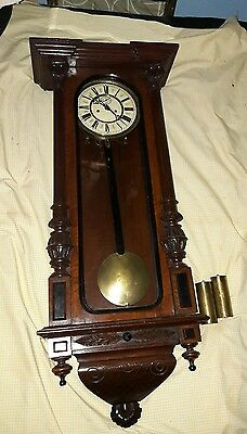 OLD VIENNA WALL CLOCK reduced to clear