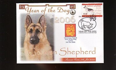 German Shepherd 2006 Year Of The Dog Stamp Souv Cover 1