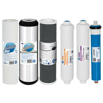 Replacement Filters and Membrane for 6 Stage Reverse Osmosis