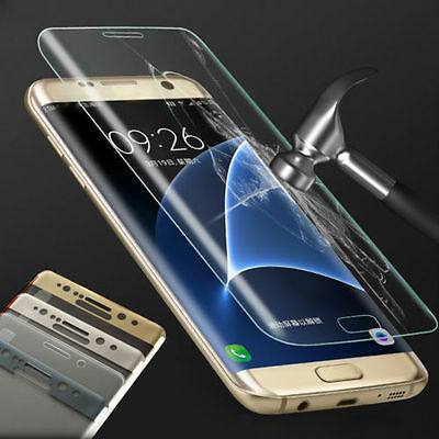 3D Panzerglas 9H Curved Full Cover Tempered Glassfolie f. Samsung S6 S7 Edge S8