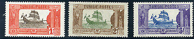 Tunisian 1906 Carthaginian Galley stamps