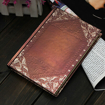 120p Vintage Classic Retro Golden Plaid Framed Notebook Diary Journal Sketchbook