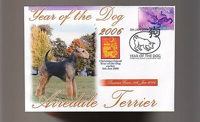 Airedale Terrier 2006 C/i Year Of The Dog Stamp Cover 2