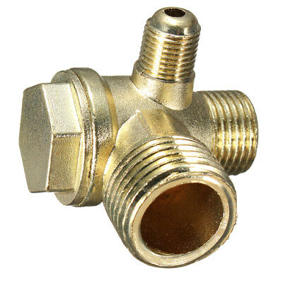 Brass Thread Tube Male Threaded Check Valve Connector Tool for Air Compressor