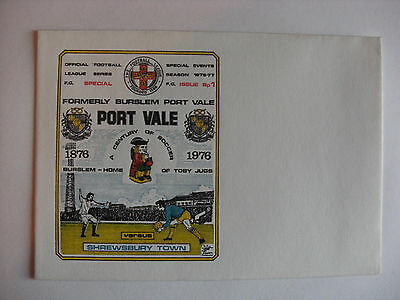 1976 Football League Match Cover - Port Vale v Shrewsbury Town (Unstamped)