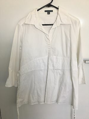 Pumpkin Patch White Maternity Shirt Size M Great For Autumn Spring