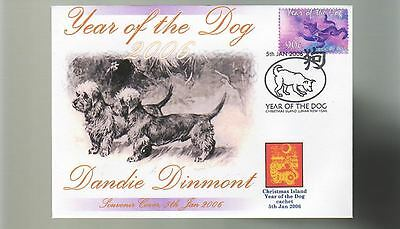 Dandie Dinmont 2006 C/i Year Of The Dog Stamp Cover