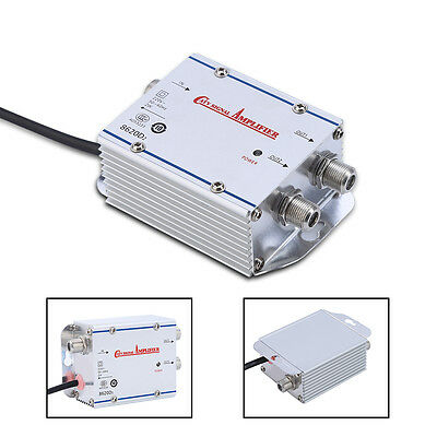 20db 2 Way CATV SIGNAL BOOSTER AMP AMPLIFIER HDTV ANTENNA CABLE TV AF