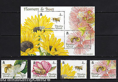 Pitcairn Islands - 2008 Flowers & Bees - U/M - SG 763-766 + MS767